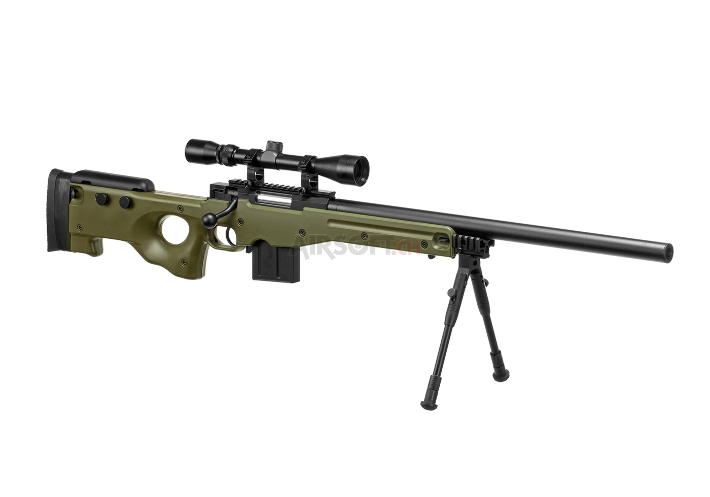 L96 AWP Sniper Rifle Set OD (Well) - Bolt Action - Airsoft ...