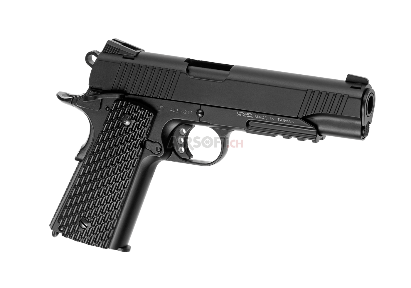 M1911 Tactical Full Metal Co2 (KWC) - with Blowback - Airsoft Pistols Co2 - Pistols - airsoft.ch ...