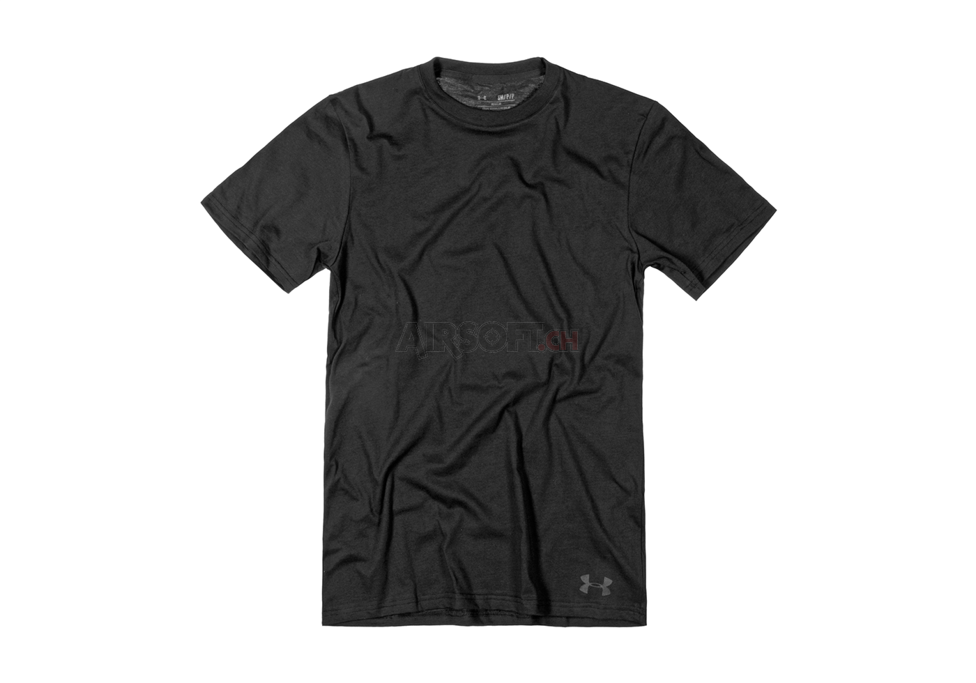 Ua tactical heatgear charged cotton tee black under for Under armor tactical t shirt